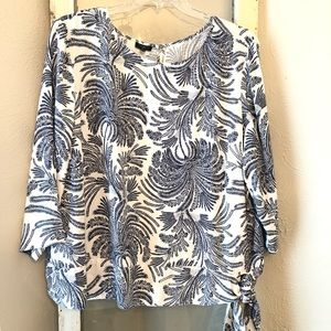 Talbots Blouse With Side Tie Size 22W